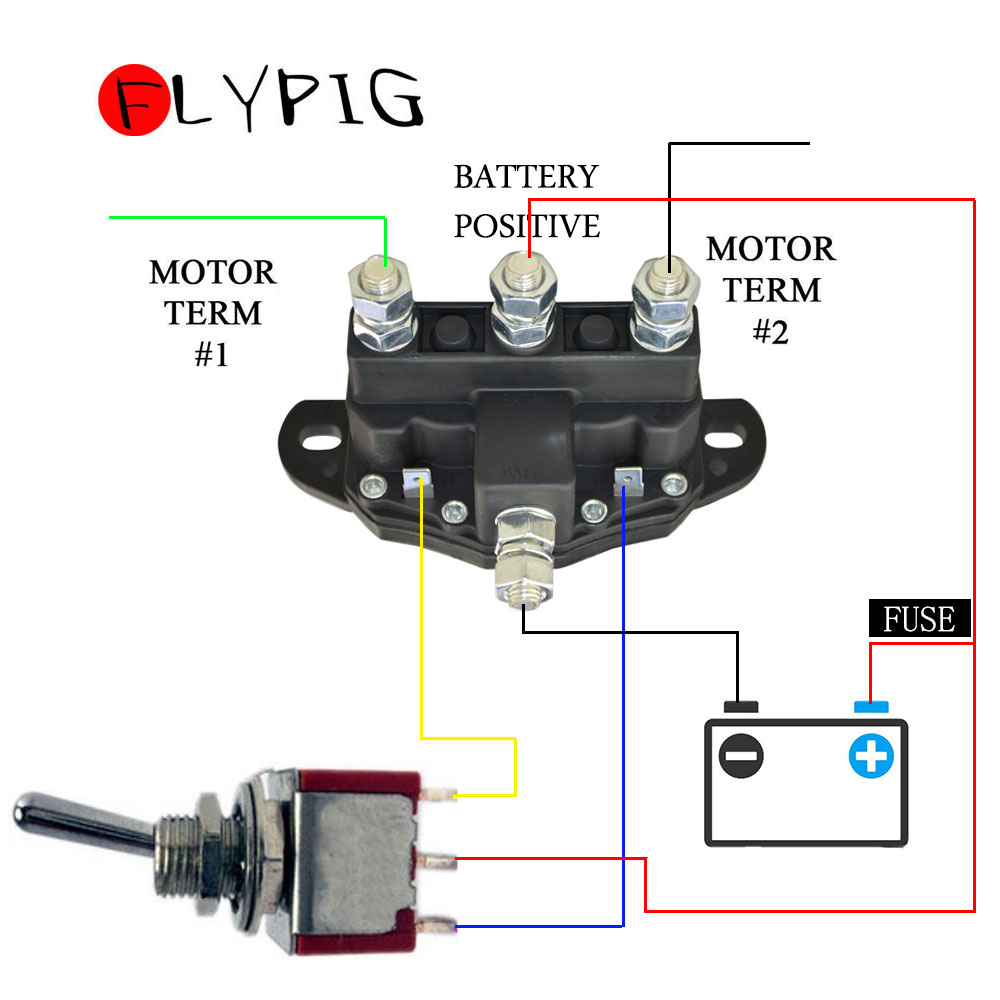CONTACTOR RELAY WINCH MOTOR REVERSING SOLENOID SWITCH STARTER SOLENOID 12 VOLT 214-1211a11 title=