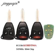 Jingyuqin 315mhz kobdt04a remoto chave do carro 3/4 botão para dodge chrysler jeep dakota durango carregador 300 aspen grand cherokee