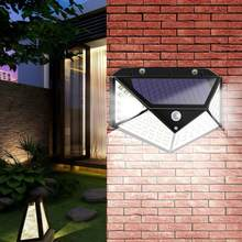Venta caliente luces de energía Solar clásico delicado exterior 100LED luz Solar de pared Sensor de movimiento impermeable lámpara de seguridad para patio(China)