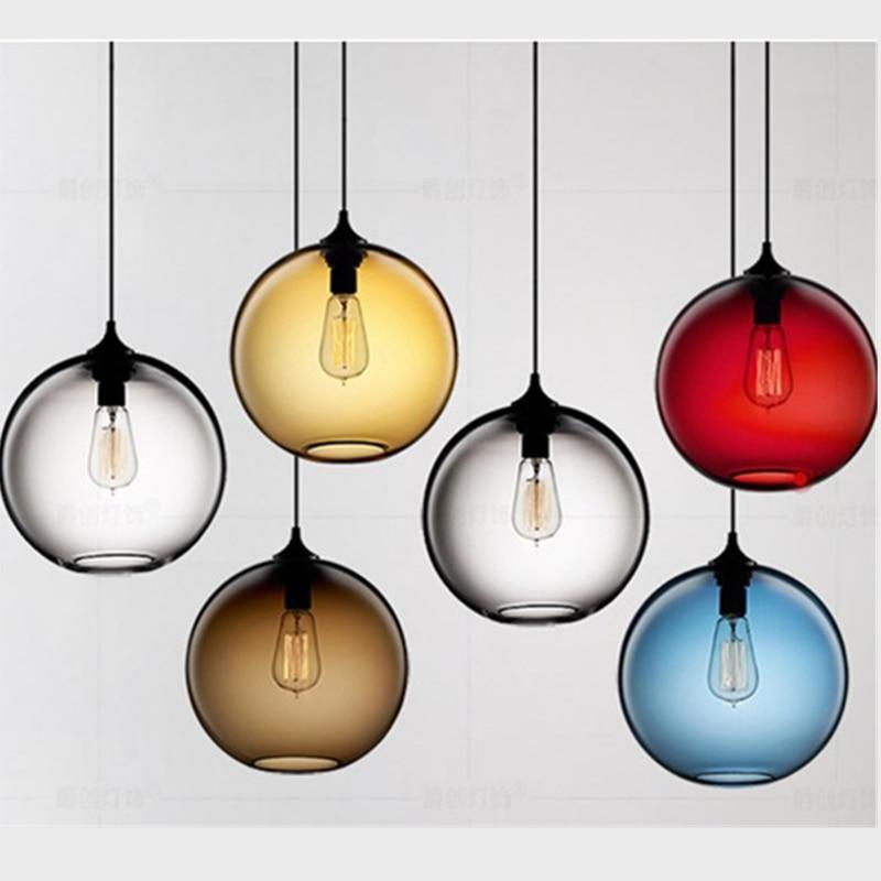 Американская Ретро креативная цветная стеклянная лампа, лампа для спальни, бара, ресторана, одежда парикмахера, магазин, люстра