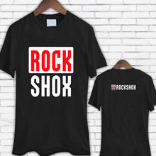 New ROCK SHOX Logo Moutain MTB Biker Bicycler Black Tee Shirt T Shirt Summer Style Mens T-Shirt Brand Style Short Sleeve