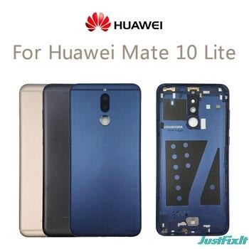 Original For Huawei Mate 10 Lite Battery Back Cover Rear Housing For Nova 2i Metal Door Camera Glass Lens Repair Parts