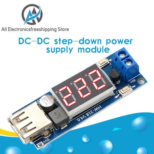 DC 4.5-40V to 5V 2A USB Charger LED Step-down Buck Converter 1
