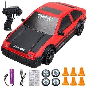 4WD р/у дрейфующая игрушечная машинка 2,4 г быстрого дрейф Гоночная машина пульт дистанционного управления Управление GTR модель AE86 автомобиля ...