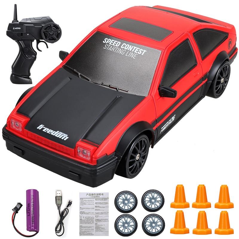 Rc drift carro brinquedo 2.4g deriva rápida carro de corrida de controle remoto ae86 gtr modelo ae86 veículo carro brinquedos
