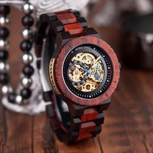 Image 5 - Relogio Masculino BOBO BIRD Mechanical Watch Men Wood Wristwatch Automatic часы мужские relojes para hombre Custom Gift Dropship
