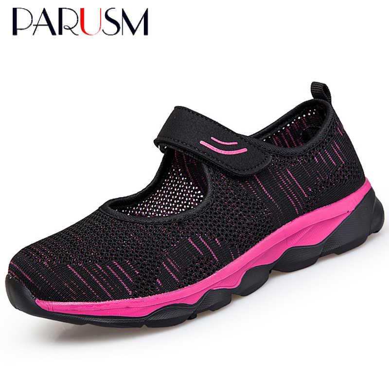Mùa Hè 2020 Thời Trang Nữ Phẳng Nền Tảng Giày Người Phụ Nữ Lưới Thoáng Khí Đế Mềm Nữ Zapatos Mujer Nữ Điêu Thuyền Giày