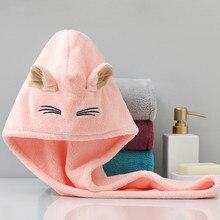 Microfiber Dry Hair Towel Women Bath Quickly Dry Head Turban Cap Bathing Wrap Drying Hat Soft Absorption Shower Cute Ear Towel