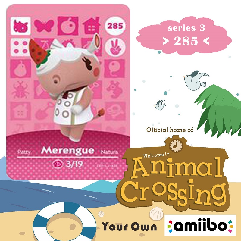 285 Animal Crossing Amiibo Card Merengue Amiibo Card Animal Crossing Series 3 Merengue Nfc Card Work For Ns Games Fast Shipping