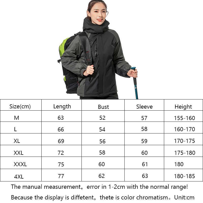 Musim Gugur Musim Dingin Plus Beludru Ski Jaket Outdoor Hiking Jaket Snowboard Mantel Tahan Air Olahraga Ski Gunung Suit