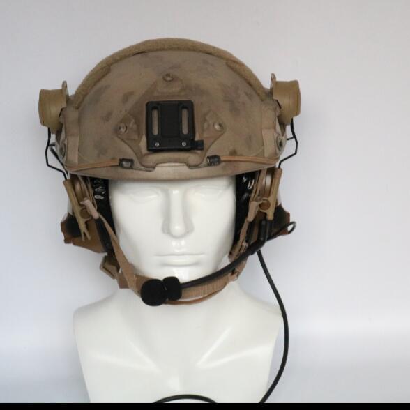 Image 5 - TAC SKY COMTAC III helmet fast track bracket version single side silicone earmuff version noise reduction pickup earphone CBEar Protector   -