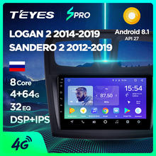 TEYES SPRO para Renault Logan 2 2012-2019 Sandero 2014-2019 auto Radio Multimedia reproductor de Video GPS de navegación Android 8,1 No 2din(China)