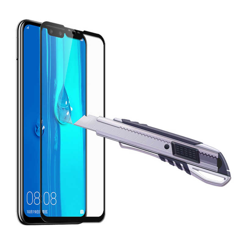 2 in 1 Tempered Glass on the For Huawei Y9 2019 Glass Screen Protector Protective Hauwei Y 9 2019 Y9 Toughened Camera Lens Film