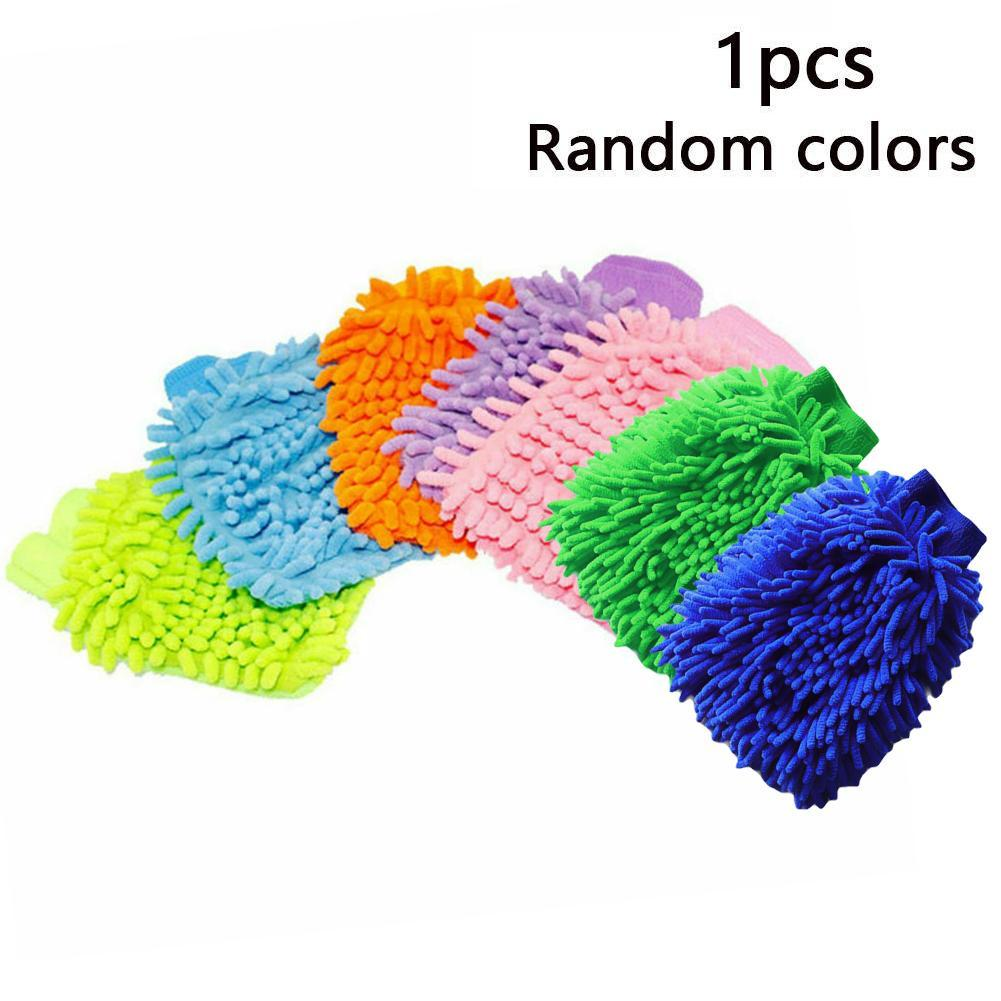 1pc Car Cleaning Drying Gloves Ultrafine Fiber Chenille Microfiber Window Washing Tool Cleaning Car Wash Glove Washing Tool