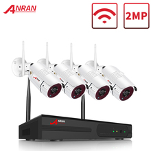 ANRAN WIFI An Ninh Hệ Thống Camera 4 Kênh 1080P Nhà & Ngoài Trời Không Dây Video An Ninh Camers Hệ Thống Điều Khiển Từ Xa Dễ Dàng & Xem