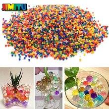 10000 pçs/set cristal solo hidrogel gel polímero contas de água flor/casamento/decoração maison crescente água brinquedo bolas decoração da sua casa