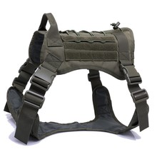 Nylon Pet Dog Harness Army Tactical Dog Harnesses Vest for Large Dogs German Shepherd Adjustable Dog Clothes with Handle M/L/XL