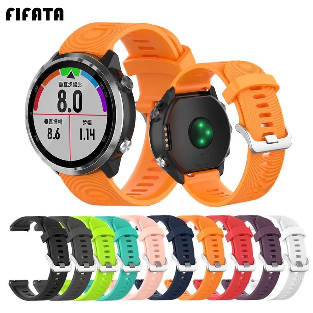 FIFATA Official Silicone Bracelet For Garmin Forerunner645 245 245M Vivoactive3 WristBand For Polar Ignite Smart Watch Strap