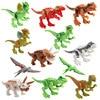 12 Pcs MOC Building Block Jurassic Park Accessories Dinosaur Animals Assembly Model Kids Toys