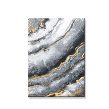 Beautiful art Handmade oil painting on canvas gold line gray back Wall art home decor hanging picture for living room bedroom