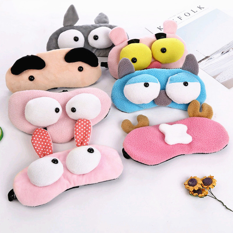 Cartoon Animals Sleep Eye Mask Padded Shade Cover Flannelette Sleep Mask Rest Travel Relax Sleeping Aid Blindfold Cover Eye Pat