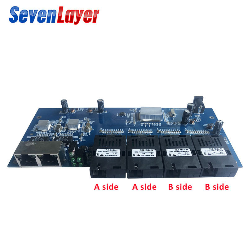 Image 2 - Fiber Optical switch 4 1.25G SC 2 1000M RJ45 Industrial Grade 