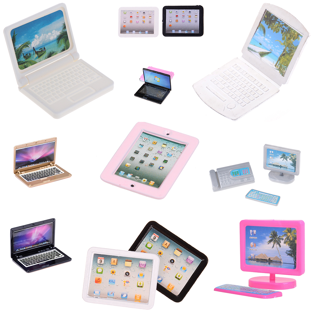 1/12 Dollhouse Miniature Accessories Mini Computer Model Simulation Tablet PC Toys Doll House Decoration Furniture Toys