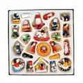24 unids/pack de Navidad de madera colgantes Kit colgante decorativo ornamento de Navidad de artesanía para vacaciones regalo