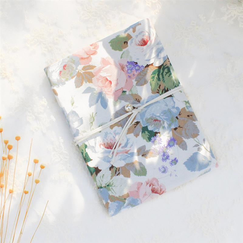 Portable Rose Design A5 Book Cover Protective Safety Books Cover Delicate School Stationery for Students Office Home