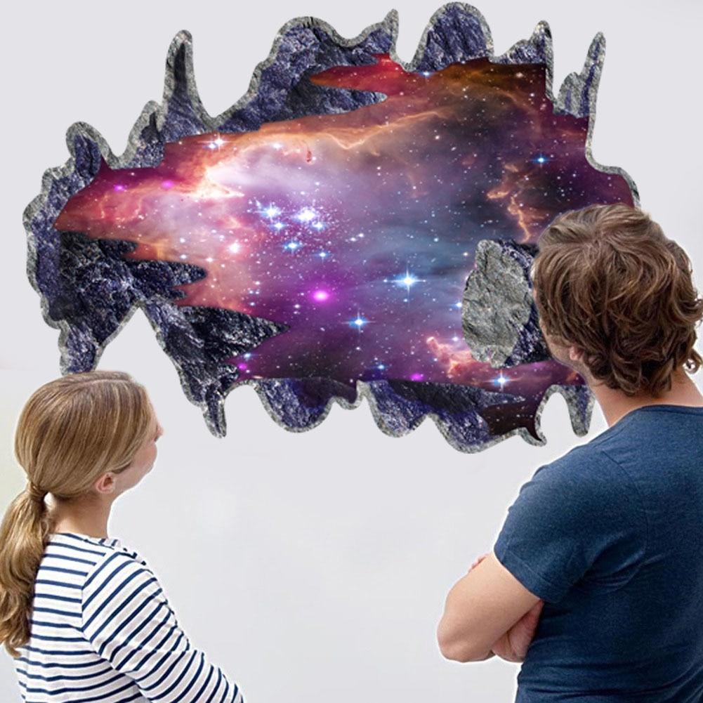 Mural, planetas 3D Decoración De Pared Arte etiqueta Espacio galaxia etiqueta engomada