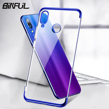 BiNFUL For Xiaomi Redmi Note 7 Case Cover Plating  Soft Silicone Back Fundas Pro Note7 7A Phone Coque