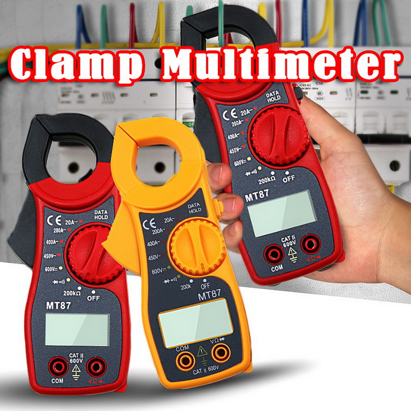 1PCS LCD Digital Multimeter MT87 AC/DC Current Ammeter Voltage Resistance Capacitance    Meter With Tester Probe