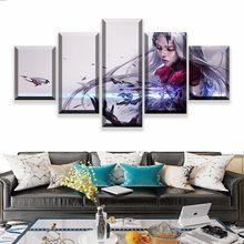 5 painel lol katarina jogo lona impressa pintura para sala de estar parede arte decoração hd imagem obras de arte cartaz