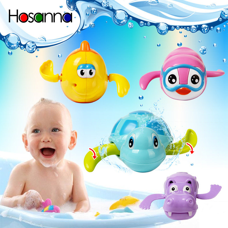 Wind Up Clockwork Dabbling Swimming Turtle Fish Animal Bath Toys For Children Baby 1 Year Happy Summer Pool Time Kids Gift