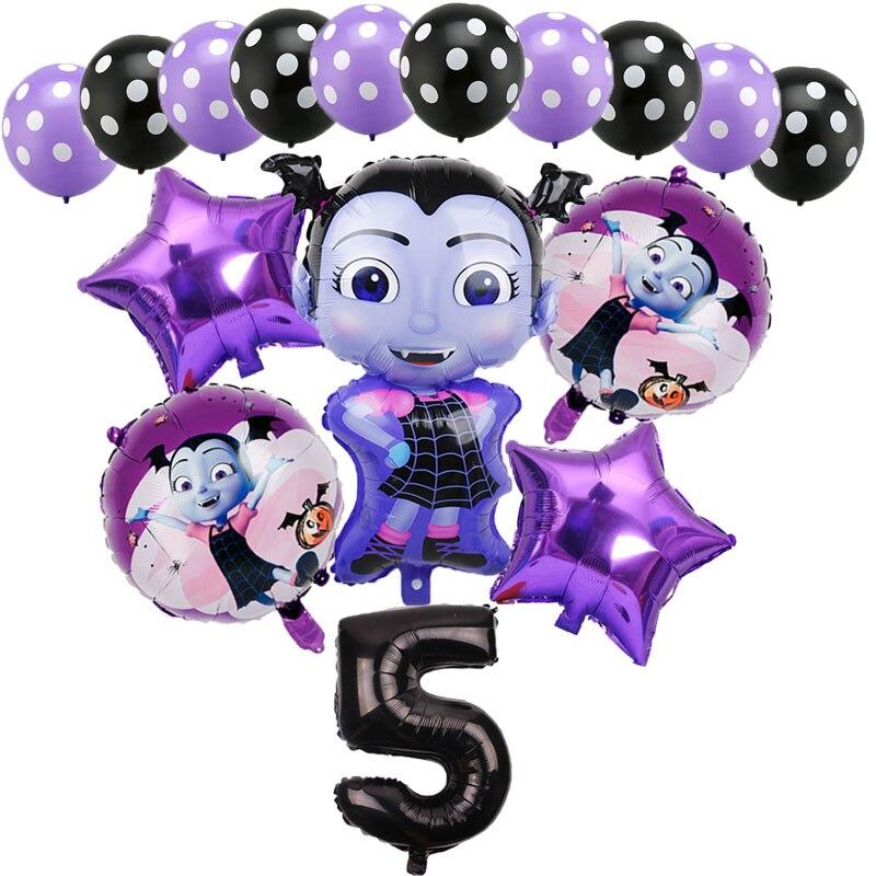 Novo vampiro menina balões aniversário aniversário festa halloween horror decorações 32 Polegada número preto balões crianças brinquedo globos