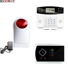 Sgooway sirena intermitente inalámbrica, claxon Flash, luz roja, sirena estroboscópica, para nuestro sistema de alarma