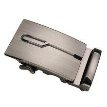 Мужские автомат слайд пряжка замена металл прямоугольник трещотка ремень пряжки