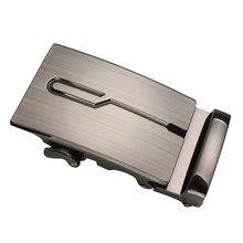 Męska automatyczna klamra przesuwna zamiennik metalowy prostokątny pasek z klamrą klamry