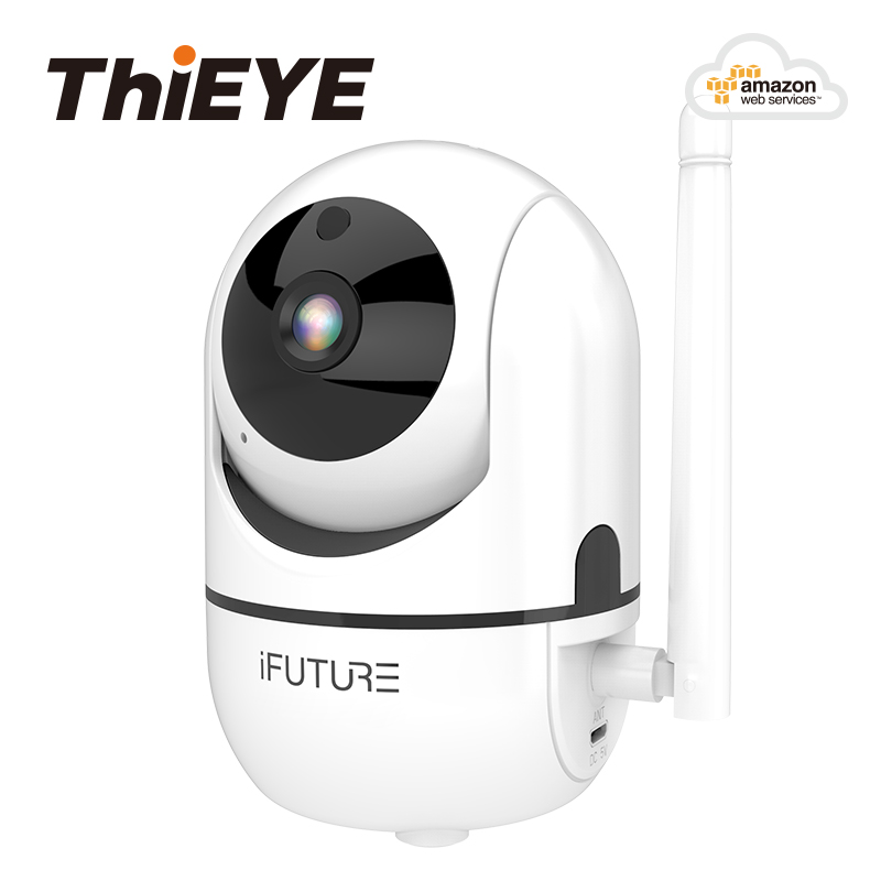 ThiEYE Full HD 720P Home Security IP <font><b>Camera</b></font> <font><b>Two</b></font> Way Intelligent Auto Tracking Cloud Wireless Wifi <font><b>Camera</b></font> Night Vision US Plug image