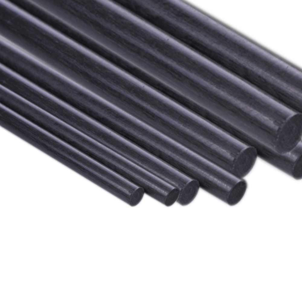 1 piezas varilla de fibra de carbono diámetro 1mm 2mm 3mm 4mm 5mm 6mm 7mm 8mm 10mm 11mm 12mm de longitud 500mm 3 Fibra de carbono