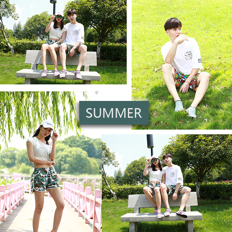 HNSD Summer Quick-Dry 5 Casual Pants Shorts Couples Men's WOMEN'S Beach Pants Shorts