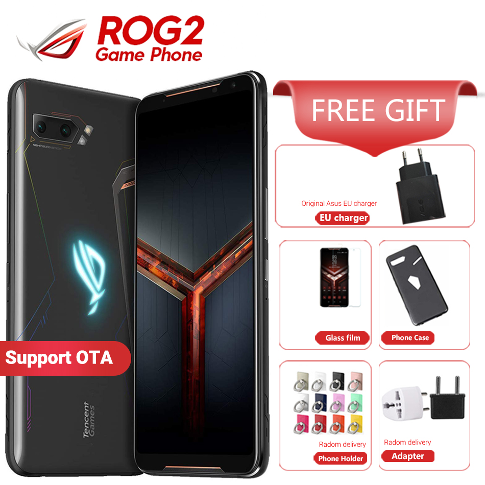 """Asus ROG Phone 2 Gaming Smartphone 128GB ROM 8GB RAM ZS660KL Snapdragon 855 Plus 6000 mAh NFC Android 9.0 6.59"""" 1080x2340 120Hz"""