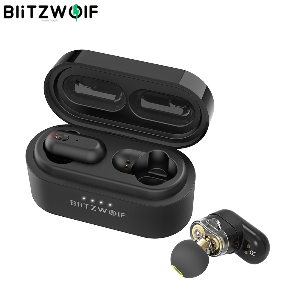 [Dual Dynamic Driver] Blitzwolf BW-FYE7 TWS Bluetooth V5.0 In-ear Earphone Bass Stereo Bilateral Call Earbud Wireless Headphones