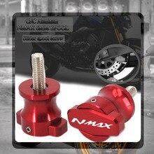 For YAMAHA NMAX155 N-MAX155 NMAX 155 125 N-MAX 2017 2018 2019 Motorcycle CNC Frame Stands Sliders Swingarm Spools M6 Screw 6MM