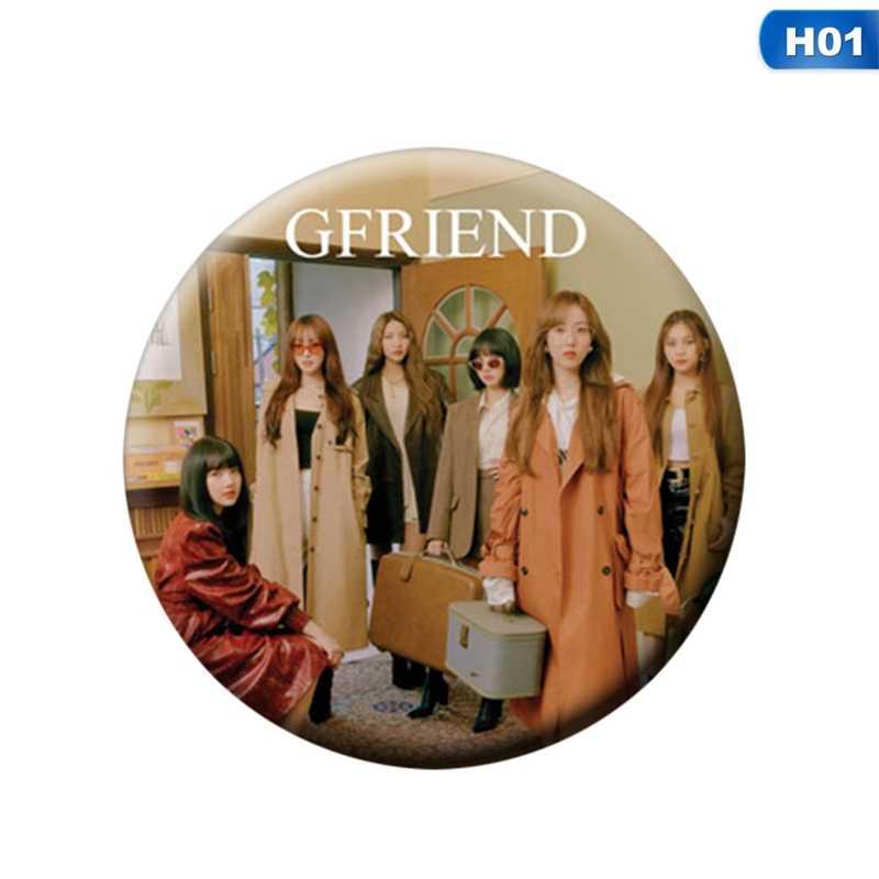 Youpop KPOP Gfriend את 2nd אלבום לנו זמן זריחה SOWON EUNHA תמונה תג סיכות סיכות עבור בגדי כובע תרמיל