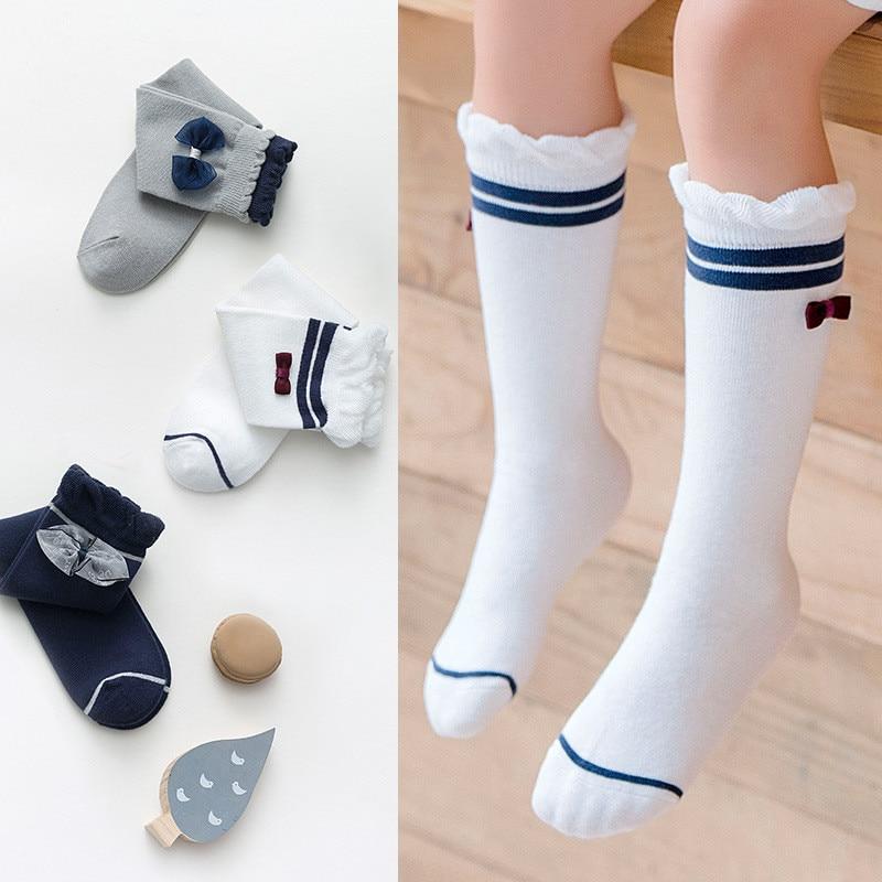 Cute Baby Girl Socks Cotton Knee Long Children/'s Socks Kids Leg Warmer