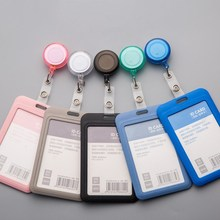 Cute Retractable Badge Reel Student Nurse Exhibition ID Name Card Badge Holder Office Supplies