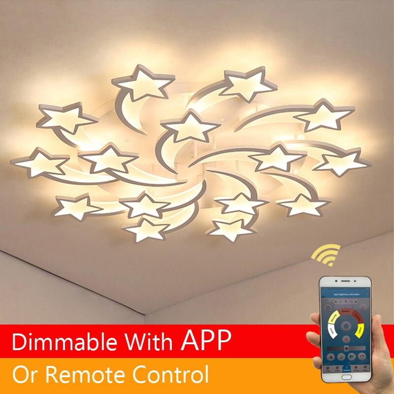Светодиодный светильник для помещения, люстра с дистанционным управлением, для гостиной, спальни, кухни, детской комнаты