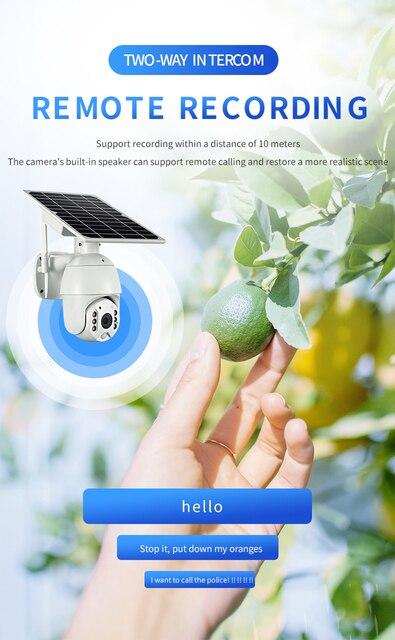 PDDHKK chargeur dénergie solaire 4G SIM sans fil étanche Surveillance extérieure sécurité CCTV HD lecteur de balle caméra avec contrôle APP