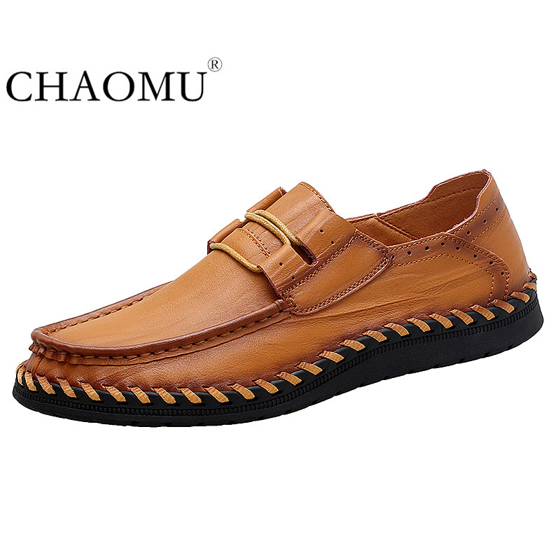 Handmade Leather Big Shoes Men's Leather Shoes Men's Shoes British Business Casual Shoes Xia Wide Version Shoes